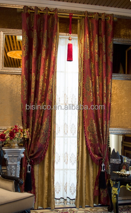 Brand New Chenille Embroidery Window Curtain, Luxury Blackout Curtain, Elegant Living Room Fringe Curtain