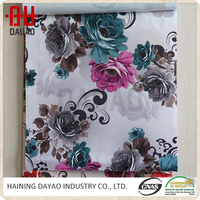 Wholesale flower pattern polyester sofa fabric widely used in home textile