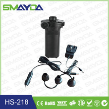factory supply 3 way AC,DC,Rechargeable electric air pump for inflatables