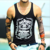 2016 custom 100 cotton tank top print outdoor bodybuilding fitness gym clothing wholesale tank top