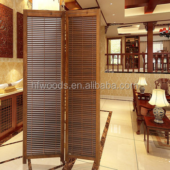 Chinese classical home decoration folding wood room divider wholesale