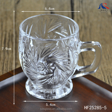 5oz Engrave Short Stem Drinking Glass Mug with Handle