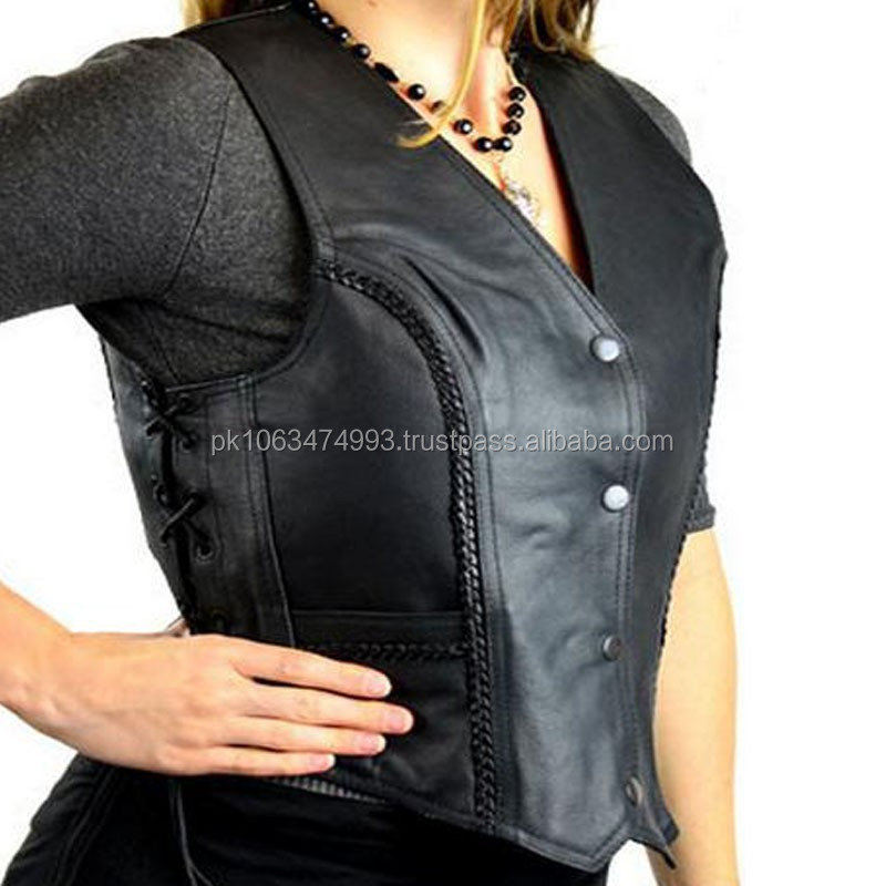 motorcycle leather vest /biker leather vest/custom leather vests