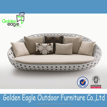 Preferential flat rattan furniture sofa set with new design excellent hand weaving and durable rattan