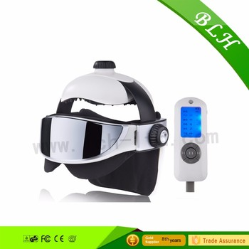 2016 far infrared musical head acupuncture heated eye head relaxing massager for home and office use