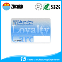 Cheap 13.56mhz rfid loyalty card with PVC material