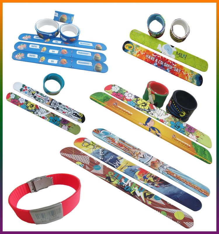 NEW technique full color slap bracelets custom image silicone slap bands