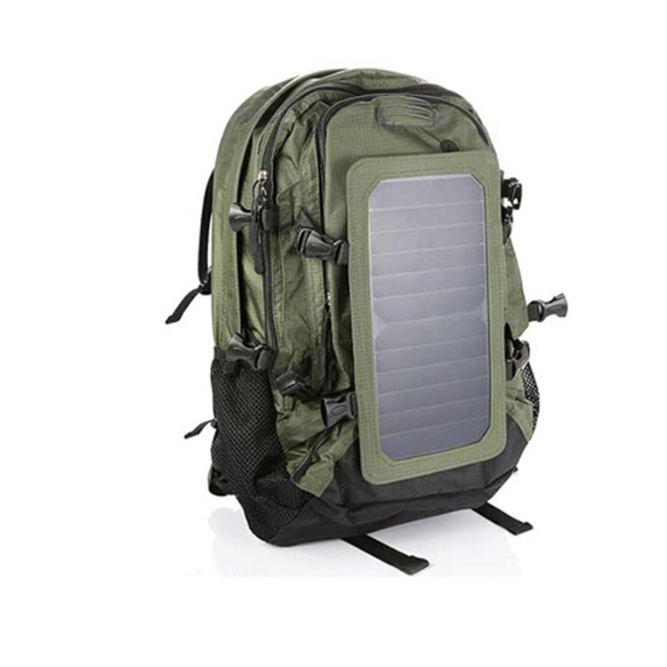 New design portable solar charger bag ,outdoor solar backpack bag with protable solar panels