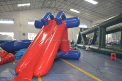 Inflatable water triangle slide & obstacle including one pump,hot sealed
