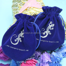 custom logo printed colorful cute small velvet drawstring jewelry pouches for diamond ring promotional