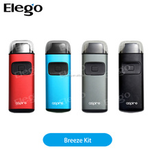 New e cigarette 2017 all in one 650mAh built-in battery mod kit Aspire Breeze Elego Wholesale