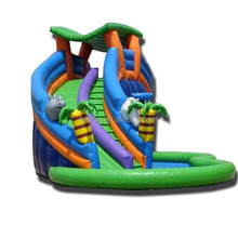 2017 custom-made inflatable water slide for amusement park giant inflatable water park games used slides for kids