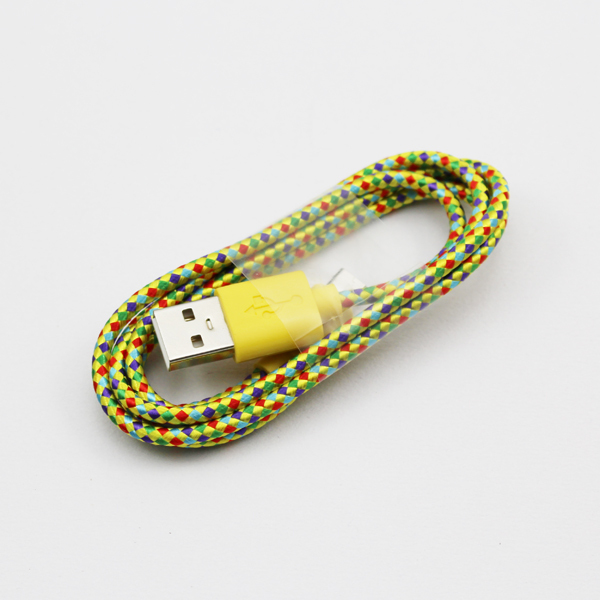 2016 New Unique Design Nylon V8 Micro USB Cable for Smart Moible Phone