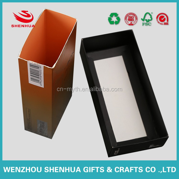 cosmetic foldable paper box in drawer design