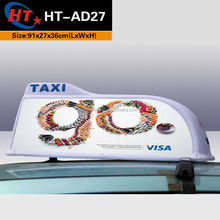 Printing ads taxi roof top leds car neon sign