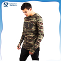 Latest design long sleeve all over sublimation camouflage printing 100% polyester camo t shirt