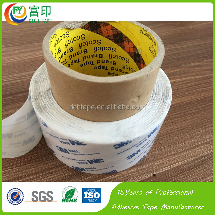 Competitive price 3M 9448a tissue tape with double sided face adhesive