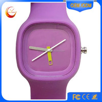 Colordul thin silicone jelly watch for sport, very cheap watch
