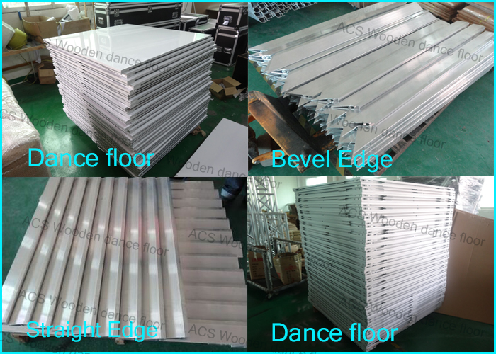Manufacturer fast delivery White laminate flooring dance theater arts hire gloss white dance floor for wedding party