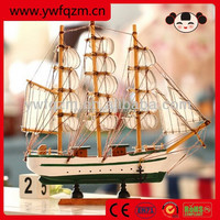 decorative wooden boats wooden sailing boat 20cm