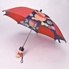 eco wood pink umbrella cartoon japanese umbrella 3D cute handle umbrella for kids