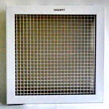180 Degree Adjust Egg Crate Grille Aluminum square air diffuser