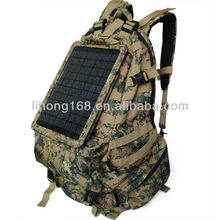 600D waterproof solar charging for phone military backpack for camping