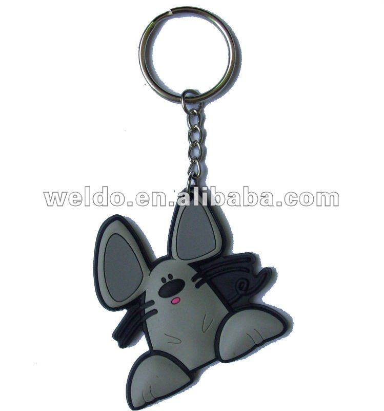 Plastic key chain with animal design