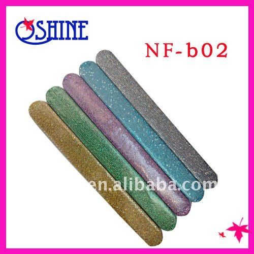 colourful nail file with Glitter/Nail buffer for nails