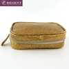Travel pu leather zipper toiletry pouch bag
