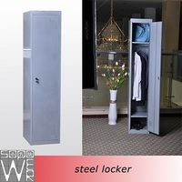 hanging single door high quality fireman stainless steel cabinet clothes locker