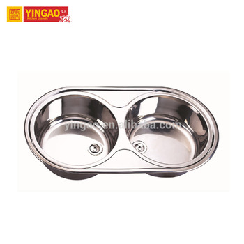 High Grade Material 304  double bowl vessel stainless steel kitchen sink