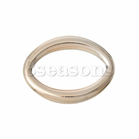 Custom Acrylic Connectors Findings For Jewelry Oval Rose Gold 3.2cm x 2.5cm,100PCs