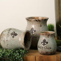 Rustic Ceramic Flower Pots Planters With