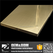Hot Rolled Crosslines-shaped Hairline Polished Titanium Coating Stainless Steel Sheet