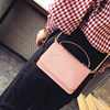 Girls Cheap Metal Handle Leather Small Sling Messenger Bag Ladies Cute Cell Phone Shoulder Bags