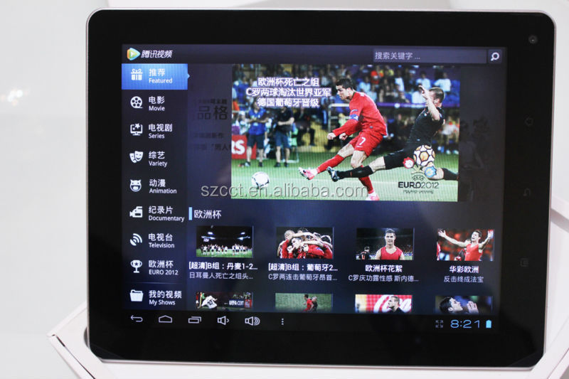 "2013 hot selling 9.7"" Android 4.0 PC 1.4GHs OEM PC tablet CTD-97"