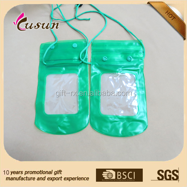Fancy custom mobile cell phone waterproof pvc bag with good quality
