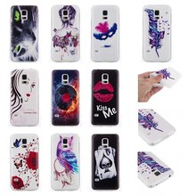 Vogue design TPU case for S5 mini, for S5 mini TPU Soft Back Painted Case Cover