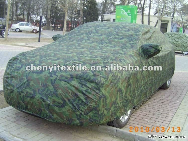 100% Polyester taffeta, camo waterproof fabric used for car cover