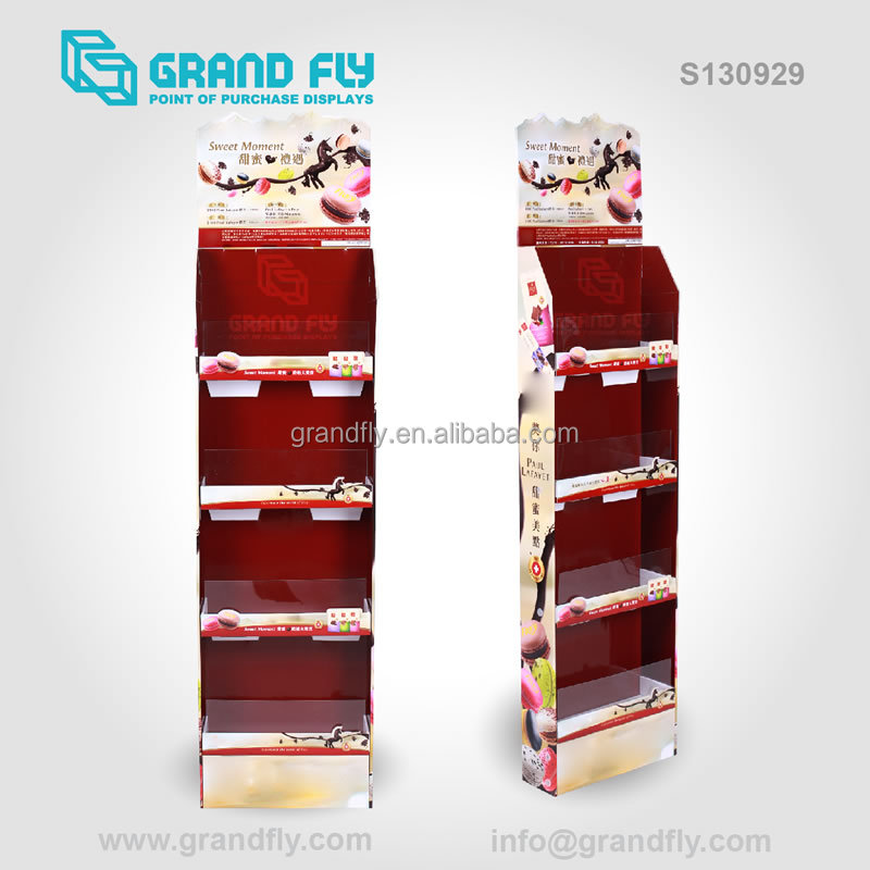Round Floor Promotion Chocolate Paper Display