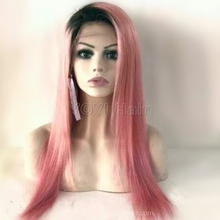 Factory Cheap price crazy color wigs corse yaki straight full lace wig