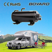 camper van with roof top mounted r407c air conditioner compressor