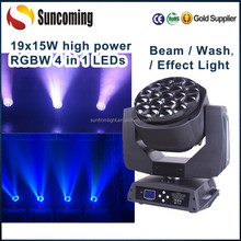 19x15W Zoom Bee Eye Led Beam Moving Head Light Wash Manufacturers