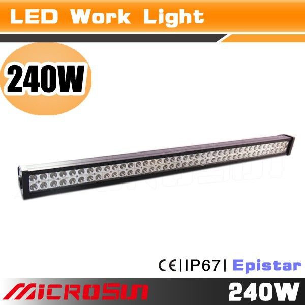 Factory wholesale top battery powered 240W tractor off-load auto parts--Epistar led light bars