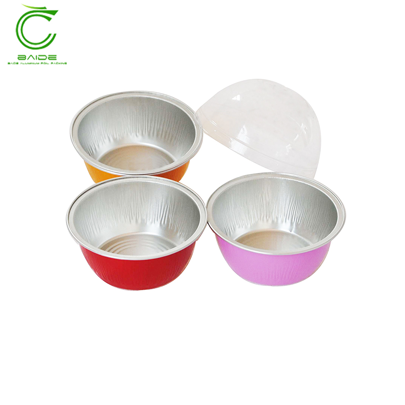Food packaging aluminium foil heat seal lids takeout container