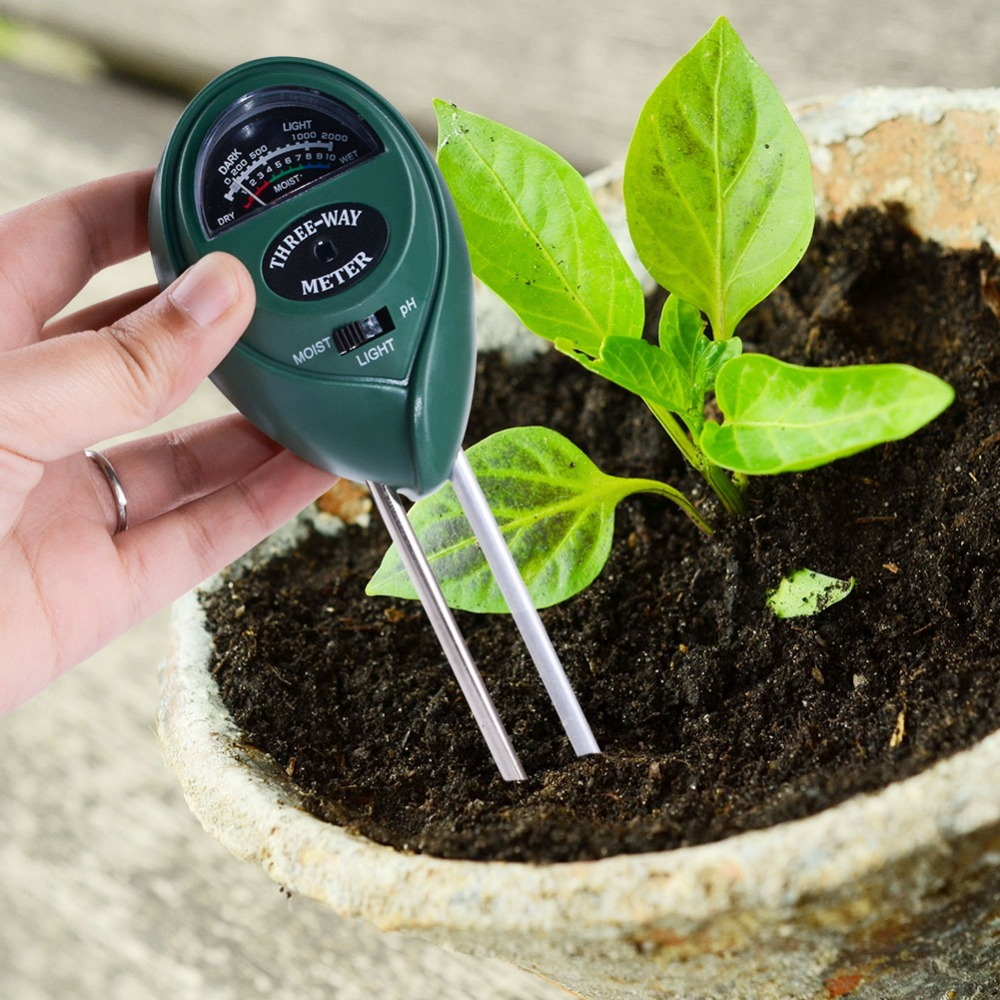 3in1 Plant Flowers Soil PH meters /Moisture/Light Meter soil test kit