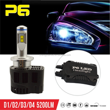 ZY P6 LED D3s,LED Headlight D4s,D1s LED Head Lights Conversion Kit
