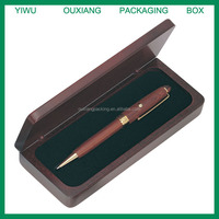 luxury design hot sale solid rose wood pen gift box