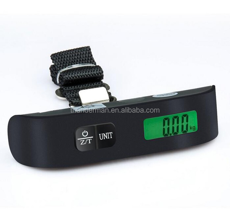 Hot Selling 50kg digital shipping scale with Green LED Backlight and Temperature Display